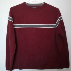 Aeropostale knit pullover sweater Sz L Burgundy NW